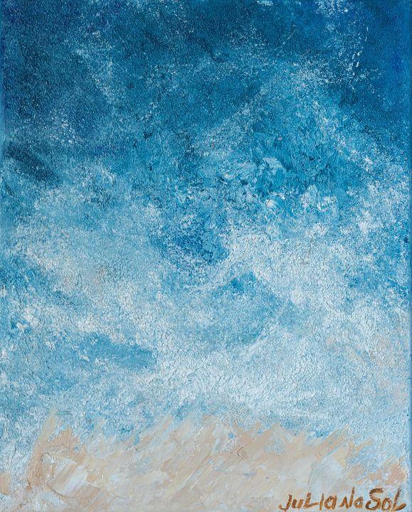 Sea harbor - Original Oil Abstract - JulianaSol