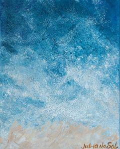 Sea harbor - Original Oil Abstract