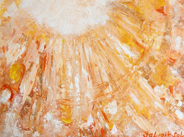 Solar space - Original Abstract Art - JulianaSol