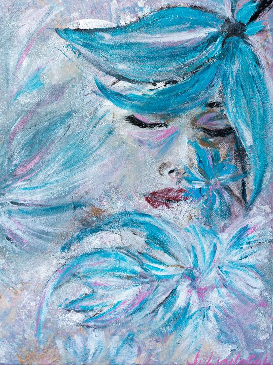 Frozen heart - Original Abstract - JulianaSol