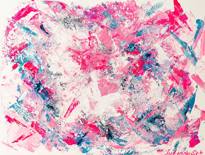 Be Happy - Original Abstract Art - JulianaSol