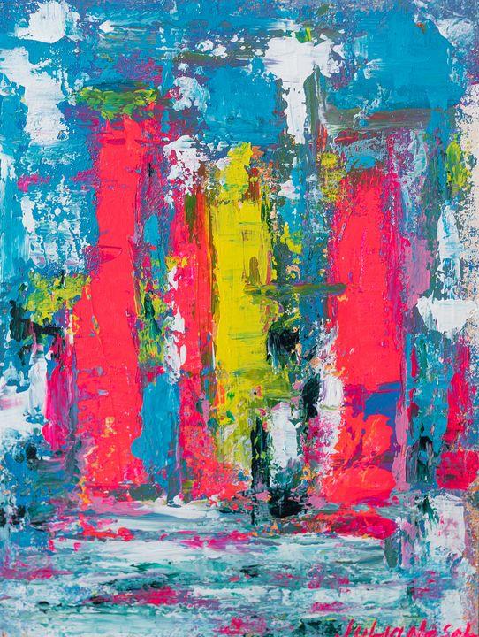 Miami #2 Original Abstract Art - JulianaSol