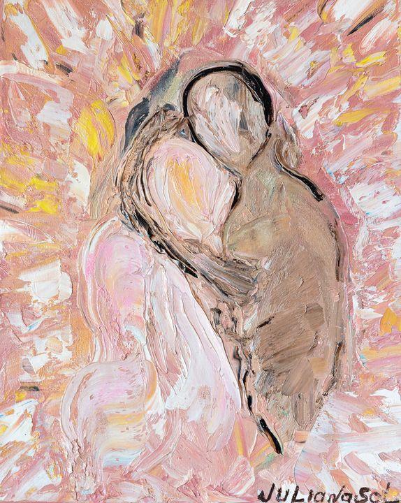 Merging of Souls - Abstract Oil Art - JulianaSol