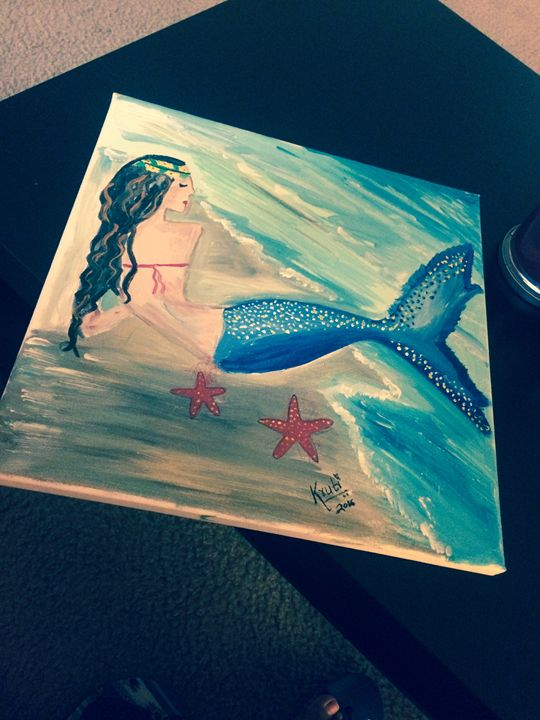 Mermaid Canvas Painting - Colors of India
