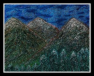 Beauty of winter - Pointillism style
