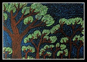 Beauty of night- Pointillism art