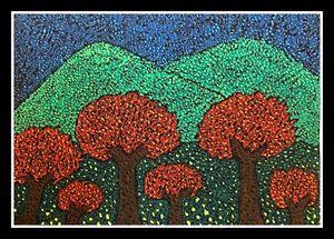 Landscape - Pointillism style