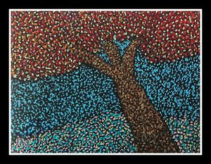 Baffling beauty - Pointillism art