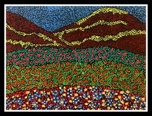 Florid meadows - Pointillism style
