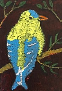 """Bird"" - Miniature Painting"