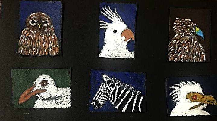 6 miniature paintings - Ganesh Kelagina Beedu Shenoy