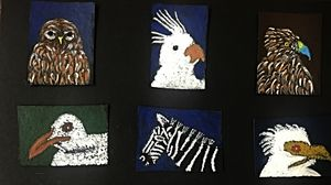 6 miniature paintings