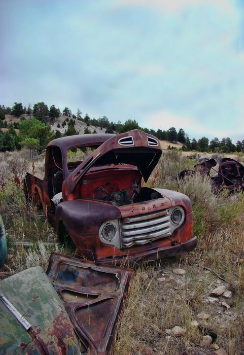 Junkyard Truck Rust and Rocks - Cathy L. Anderson