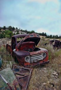 Junkyard Truck Rust and Rocks