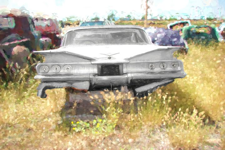 Fins Old Chevy - Cathy L. Anderson