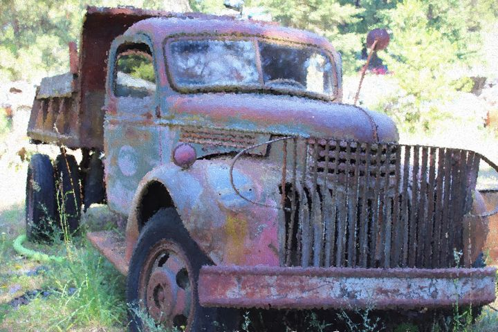 Junkyard Find Old Truck - Cathy L. Anderson