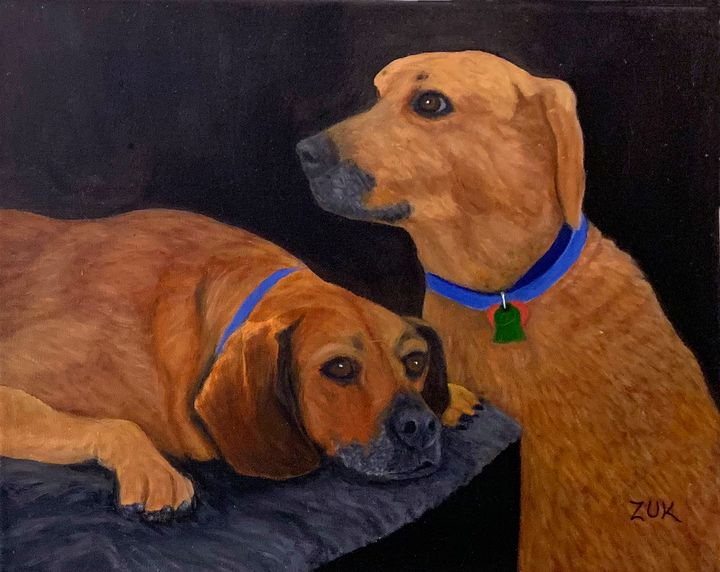 Dog Love - Art by Karen Zuk Rosenblatt