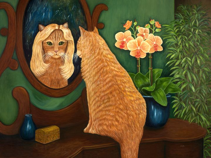 Mirror Mirror on the Wall - Art by Karen Zuk Rosenblatt