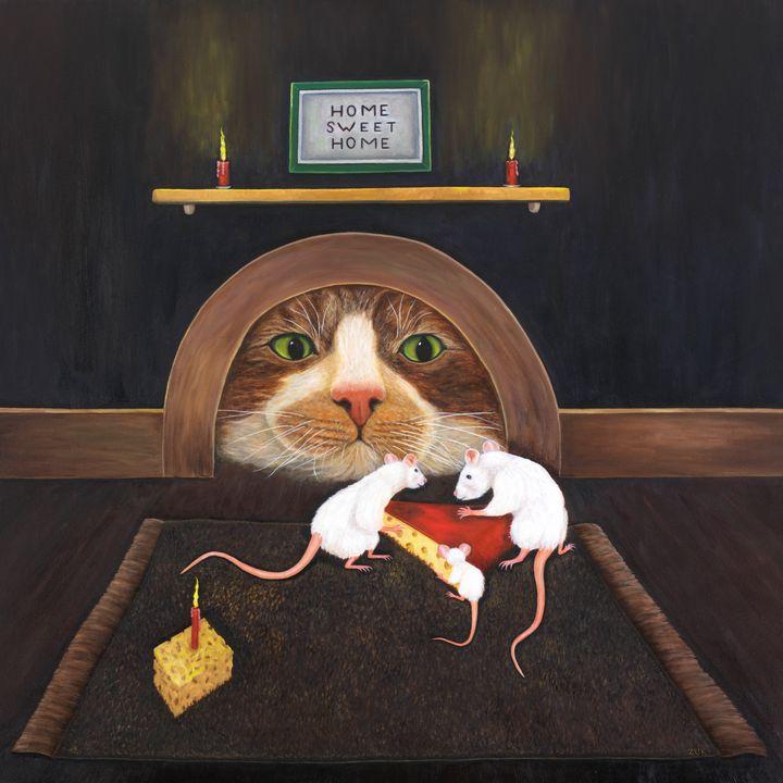 Mouse House - Art by Karen Zuk Rosenblatt