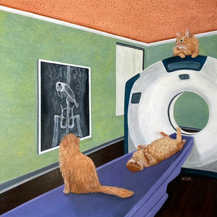 CAT Scan - Art by Karen Zuk Rosenblatt