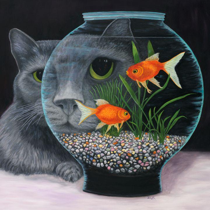 Eye To Eye Square - Art by Karen Zuk Rosenblatt