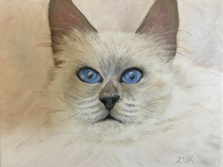 Birman Cat - Art by Karen Zuk Rosenblatt