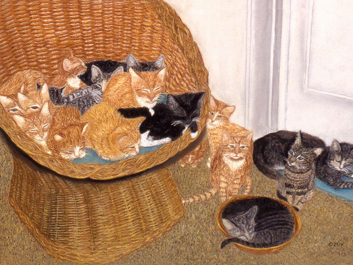 Kitty Litter I - Art by Karen Zuk Rosenblatt
