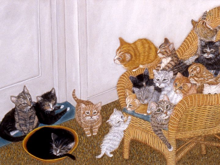 Kitty Litter II - Art by Karen Zuk Rosenblatt