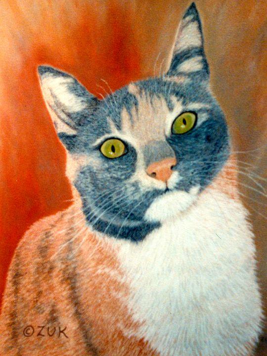 Calico Cat - Art by Karen Zuk Rosenblatt