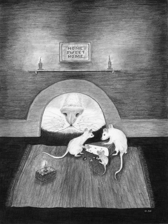 Mouse Hole - Art by Karen Zuk Rosenblatt