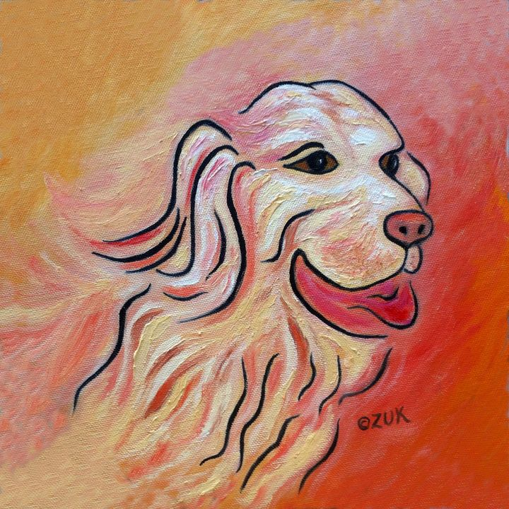 Golden Retriever - Art by Karen Zuk Rosenblatt