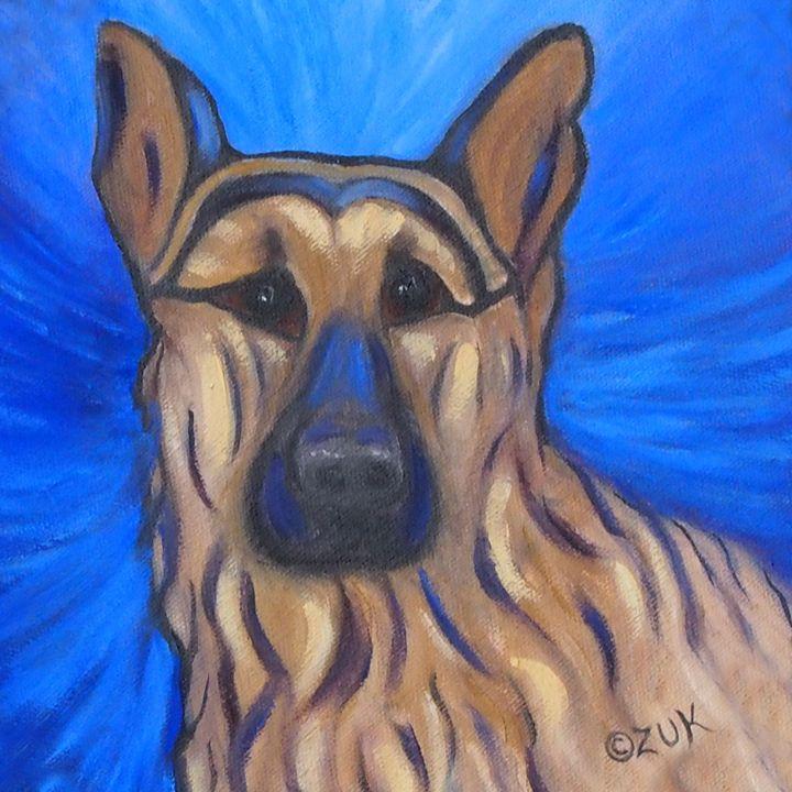 German Shepherd - Art by Karen Zuk Rosenblatt