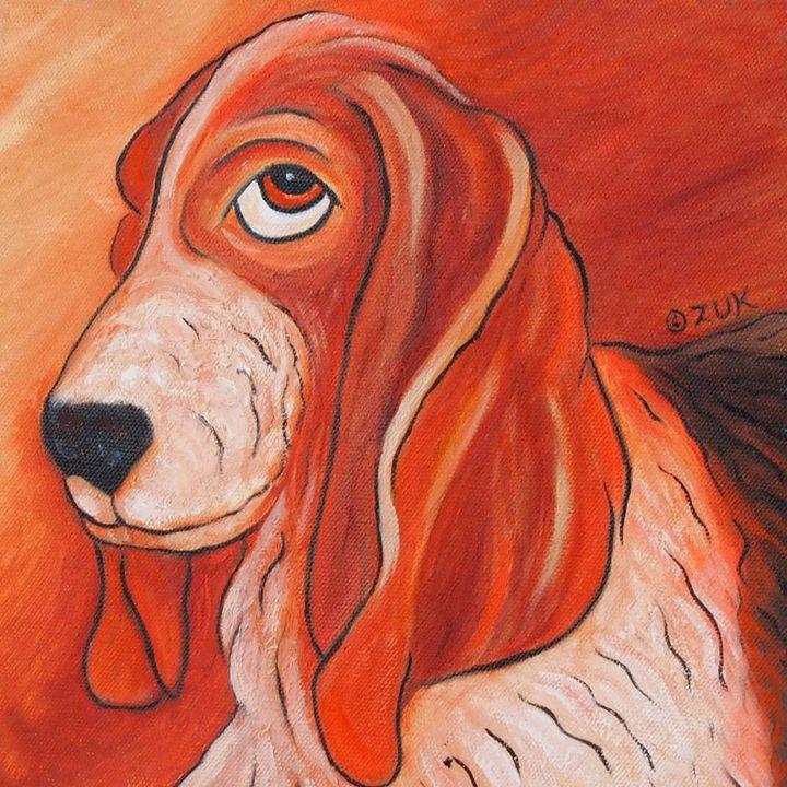 Basset Hound - Art by Karen Zuk Rosenblatt
