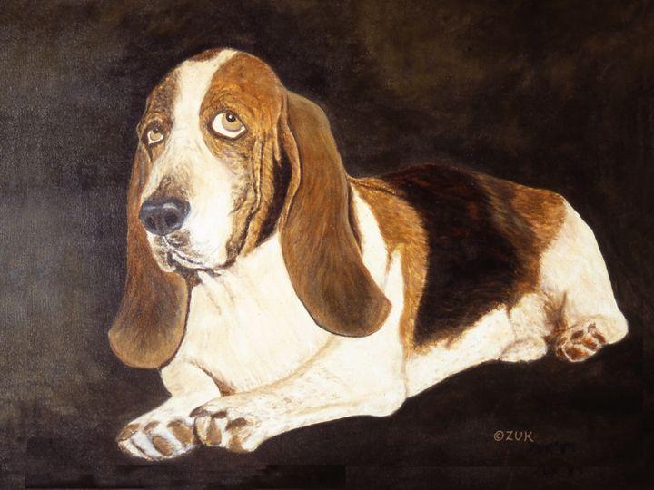 Basset Hound Gregory - Art by Karen Zuk Rosenblatt