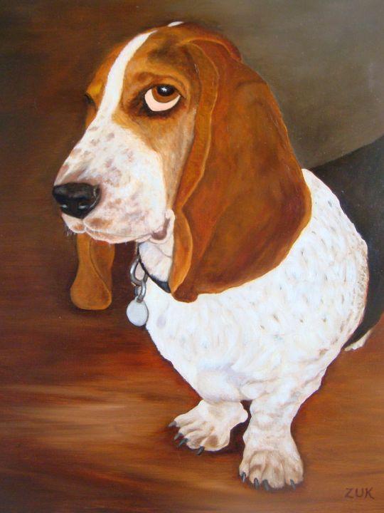 Basset Hound Winston - Art by Karen Zuk Rosenblatt
