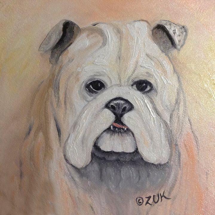 Bulldog - Art by Karen Zuk Rosenblatt