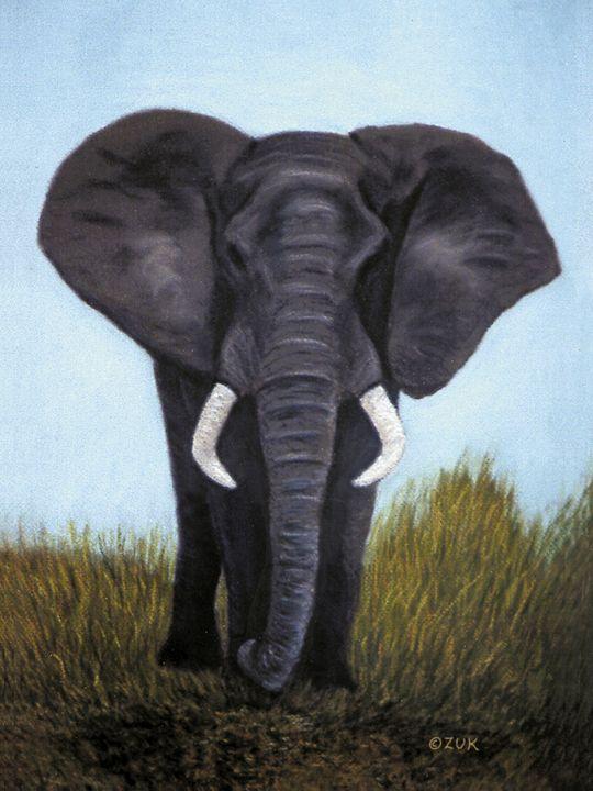 Elephant - Art by Karen Zuk Rosenblatt