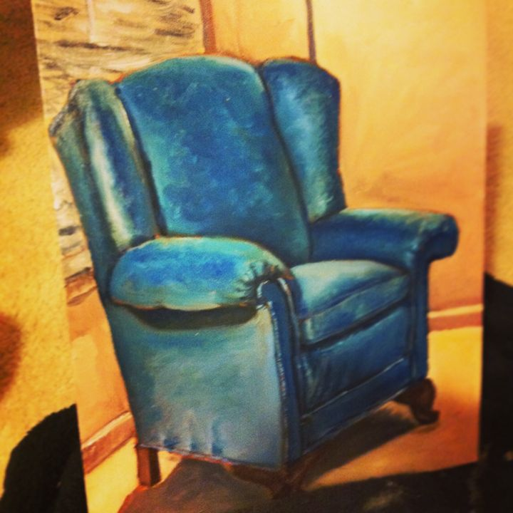 The Blue Chair - Rose Knows Art