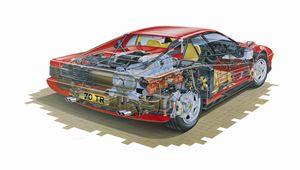 Ferrari Testarossa Cutaway