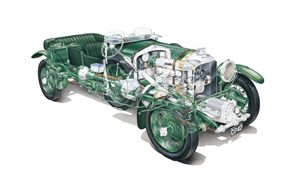 Bentley Blower Cutaway Airbrush