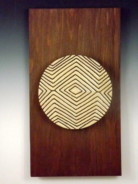 Tribal Shield Ceramic Art Tile #11 - Pacifica Tiles