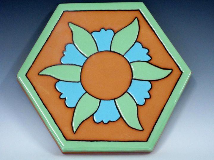 Ceramic Art Paver Tile #1 - Pacifica Tiles