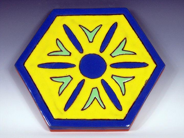 Ceramic Art Paver Tile #5 - Pacifica Tiles