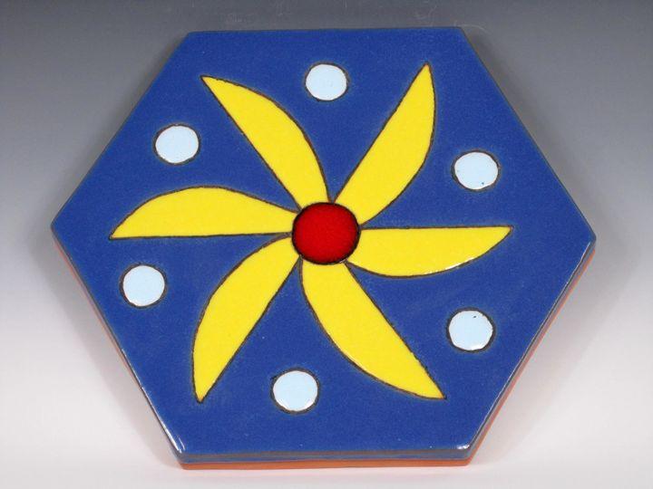 Ceramic Art Paver Tile #10 - Pacifica Tiles