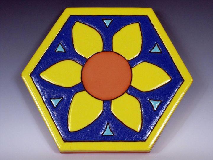Ceramic Art Paver Tile #11 - Pacifica Tiles