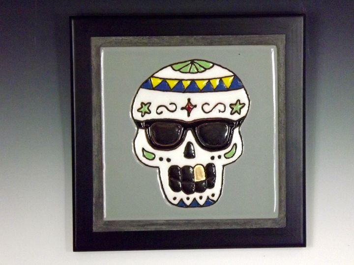 Sugar Skull Ceramic Art Tile #1 - Pacifica Tiles
