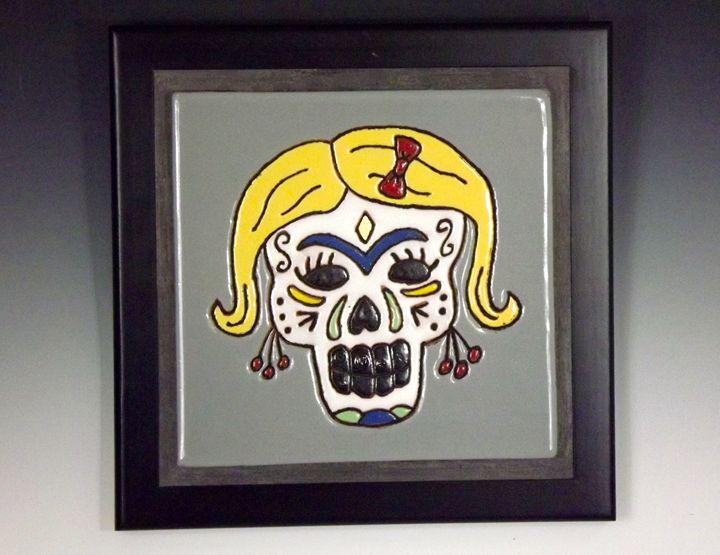 Sugar Skull Ceramic Art Tile #2 - Pacifica Tiles