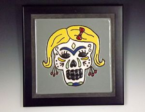 Sugar Skull Ceramic Art Tile #2 - Pacifica Tiles