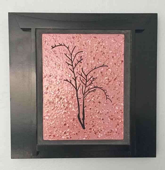 Cherry Tree Framed Ceramic Art Tile - Pacifica Tiles