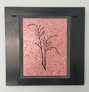 Cherry Tree Framed Ceramic Art Tile